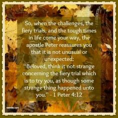 Trials & Challenges only make me stronger when I depend on the Lord!