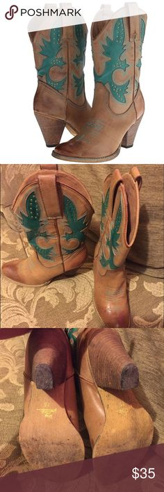 """Very Volatile cowboy boots. Semi new! Only worn once (my b-day) very stylish and comfortable. A little heel approximately 3"""". No box. very voltalite Shoes Heeled Boots"""
