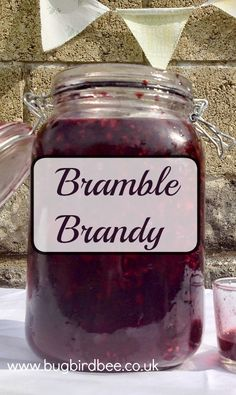 Preserving: Blackberries In Alcohol With Bramble Brandy Cocktail Drinks, Fun Drinks, Beverages, Cocktails, Brandy Liquor, Brandy Recipe, Bread Replacement, Homemade Liquor, Smoothie Drinks