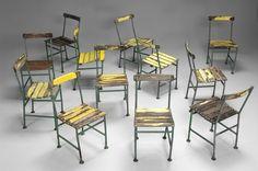 Set of Twelve Cast Iron Chairs. Gunnar Asplund.  Sweden, ca.1950