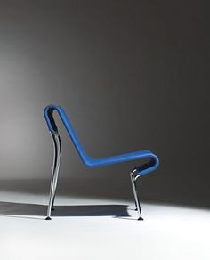 Elsa and Nordahl Solheim; Chromed Steel and Leather Pirate Chair by...