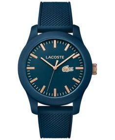 Lacoste Unisex 12.12 Blue Silicone Strap Watch 43mm 2010817 Orologi Da  Polso 50c2c0b3fcb