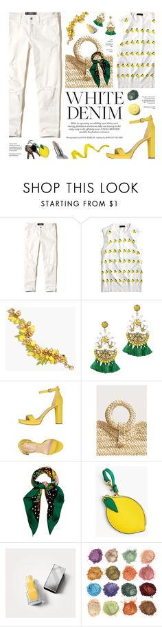 """Bright White: Summer Denim"" by federica-m ❤ liked on Polyvore featuring Hollister Co., J.Crew, Elizabeth Cole, Nine West, MANGO, Dolce&Gabbana, Burberry and whitejeans"