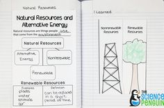 Natural Resources interactive science notebook pics- PowerPoint notes and fold-up