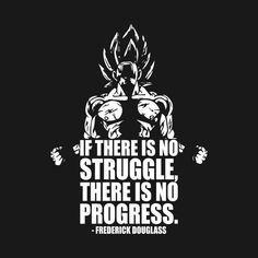 No Struggle No Progress Goku By Oolongtee Training Apparel Onepunchman Onepunchmanwallpaper Onepunchmanquotes Dbz Quotes One Punch Man One Punch