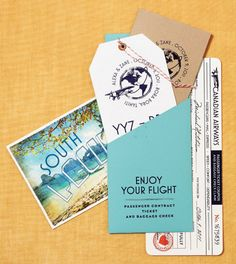 Travel inspired invitations for a destination wedding