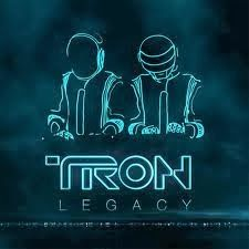 The neon treatment of the type for the the Tron Legacy album, ties the illustration to the theme of the movie together. The decorative modern style type adds to the cohesion.