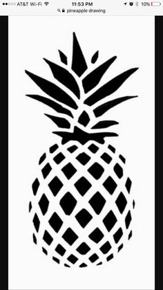 pineapple silhouette stencil stencils drawing ananas painting patterns diy pina stickers hawaiian vector gold barbados templates sticker template fruit than