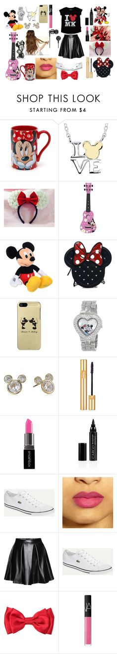 """""""Disneyland adventure"""" by sparkflower ❤ liked on Polyvore featuring Disney, Loungefly, Yves Saint Laurent, Smashbox, CARGO, Lacoste, NARS Cosmetics and Nixon"""