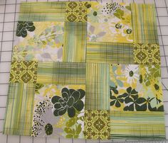 The fabric makes this; so unusual. Layer Cake Quilt Patterns, Layer Cake Quilts, Modern Quilt Blocks, Peonies, Sewing, Quilting, Block Party, Fabric, Moose