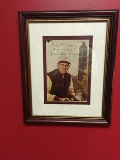 My autographed Bear Bryant picture
