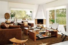 15 Cozy Corner Fireplace Design Ideas in the Living Room