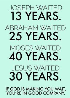 Waiting for God to move in this season