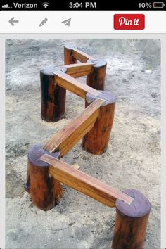 This is a cool idea for a little balance beam