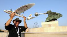 """Bruce Flora ready to launch our new """"Eye In The Sky"""" radio controlled glider with live video view from the cockpit"""