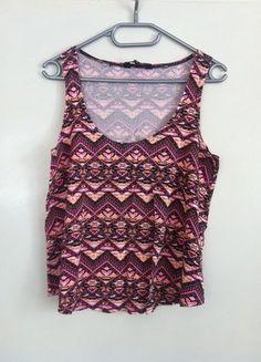 Kup mój przedmiot na #vintedpl http://www.vinted.pl/damska-odziez/bluzki-bez-rekawow/17468630-tunika-luzny-top-etniczne-wzory-new-look-10-m