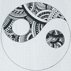 Ying-yang mandala. Dibujos. Drawings