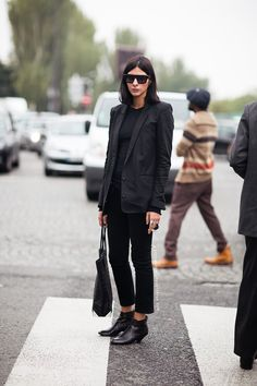 Cropped black trousers // Elegant teacher style