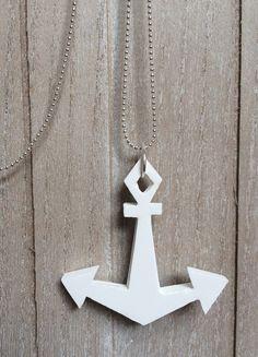 Kette mit Anker // anchor necklace via DaWanda.com