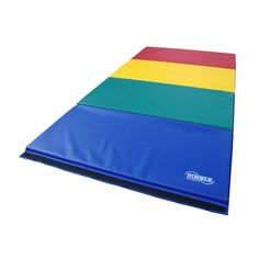 8ft Rainbow Folding Mat. This mat is excellent for beginning and advanced gymnastics, exercise, aerobics, plus more. The mat is great for home use and competitive gymnastics. Satisfaction is Guaranteed The folding mats will fold down to (4) 2ft X 4ft sections to allow easy transport and storage. We are the manufacturer so we can make any color combo. Nimble Sports guarantees everything sold with a 1 year warranty. #Gymnastics #MadeinAmerica #MadeinUSA #GymnasticsEquipment