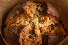 Panettone  Committing to making this sweet, yeasted Italian holiday bread is truly a labor of love. To make the process more manageable, this recipe utilizes an overnight rise so you're not spending an entire day in the kitchen. To start, make a sponge (or starter) with yeast, water, and flour and let it rise. Then, to make the dough, mix the sponge with lots of butter and eggs,