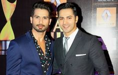 varun with shahid kapoor luking v.nyc3 2gether