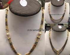 Jewellery Designs: Spinel Black Beads Necklaces