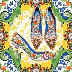 A ladylike choice for your summer evenings, these feminine pumps are defined by the colourful majolica print and a sparkling embellished brooch. Available on the online store. Link in bio. Dolce & Gabbana, Pop Collection, Bargain Shopping, Summer Evening, Couture, Famous Brands, Supermodels, Fashion Beauty, Fashion Accessories