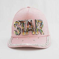 The I'm a Star Princess Trucker Little Girl Outfits, Little Girls, Designer Caps, Pink Princess, Kids Wear, Pale Pink, Rainbow Colors, Crystal Beads, Kids Fashion