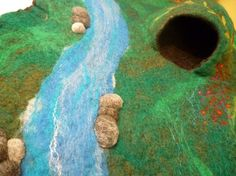 Delightful Felted Playscape Made to order by WoolyMammoth on Etsy, $68.00