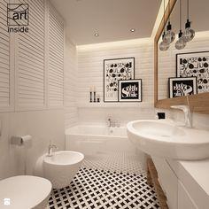 łazienka w stylu skandynawskim - zdjęcie od art inside - studio projektowania wnętrz i ogrodów - Łazienka - Styl Skandynawski - art inside - studio projektowania wnętrz i ogrodów