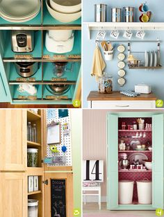 Strawberry Chic: Inspiration Thursday: Storage Ideas for Small Kitchens