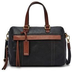 Fossil Molly Satchel Shb1483001 Color: Black ($119) ❤ liked on Polyvore featuring bags, handbags, tote purses, fossil tote, satchel purses, mini satchel handbags and satchel handbags
