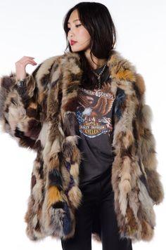 https://www.etsy.com/listing/208977962/vtg-colored-chubby-fox-fur-coat-jacket @navyhoop