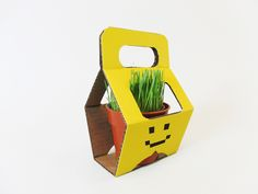 Potted plants also need packaging instead of plasticbags. This packaging characterizes the shape and one piece self-lockingdesign that is easy to use. It is made of corrugated board, and four cut-outs on thepackaging will not only make the plant part of the decoration, but also lock the edges of the pod when you lift the packaging.