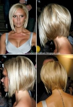 Victoria Beckham Bob Cut LOVE the color! Cute for short hair