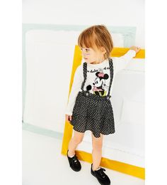 $15.90 ZARA - KIDS - MINNIE MOUSE T-SHIRT WITH POMPOM