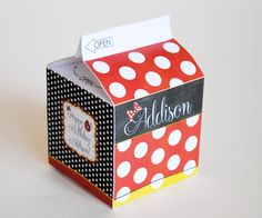 Minnie Mouse Milk Carton Favor or Treat Box
