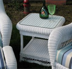 Outdoor Wicker End Table - Manchester