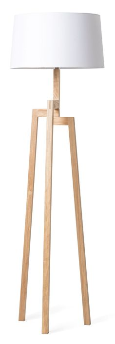 The Nordic Floor Lamp is asymmetrical yet balanced in true Nordic design style. A tripod base is