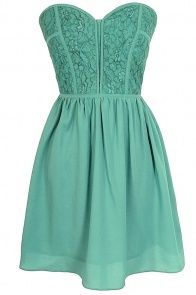 Sweetheart Strapless Dress in Sage ♥