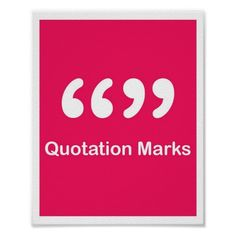 #Punctuation Marks- #QuotationMarks #Poster #school #education #classroom #ClassroomPosters #english #LanguageArts #EnglishClassrooms #EnglishClassroomPosters