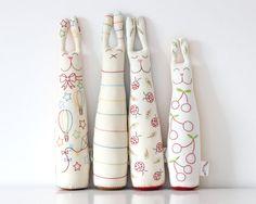 Rellenos del conejo de conejito de juguete rayas hechas a mano suaves por TheFoxintheAttic