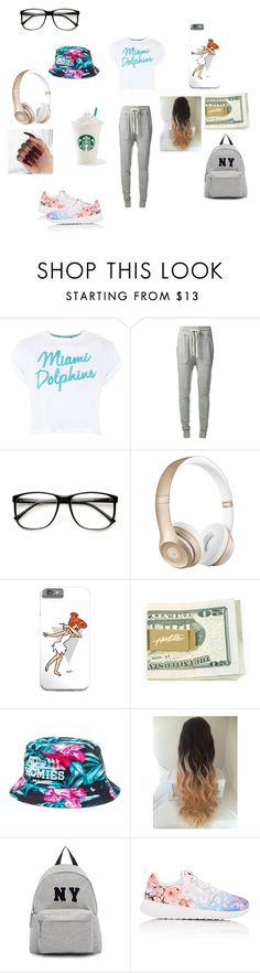 """""""chillin wit squad"""" by goofybaby ❤ liked on Polyvore featuring Topshop, James Perse, ZeroUV, Beats by Dr. Dre, Reason, Joshua's and NIKE"""