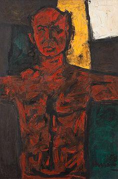 Untitled (Portrait of Bal Chhabda)-Maqbool Fida Husain