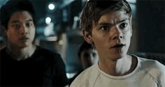 Newt looks like someone just told him his mom was hit by a car