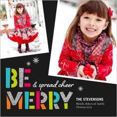 Be Merry Sparkle 5x5 Flat Stationery Card by Yours Truly | Shutterfly.com