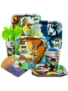 Ben 10 Party Economy Box Serves 8 Guests $7.69
