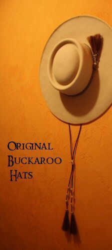 """Montana Rio Buckaroo Hats - my fantasy hat would be a Lady's 4"""" brim Natural with turftan grosgrain ribbon around brim and a simple horsehair band with tuft around the crown. <3 this Old West Western style!"""