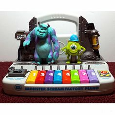 Disney Monster Inc. Scream Factory Piano Sully and Mike Movie Characters - 2001